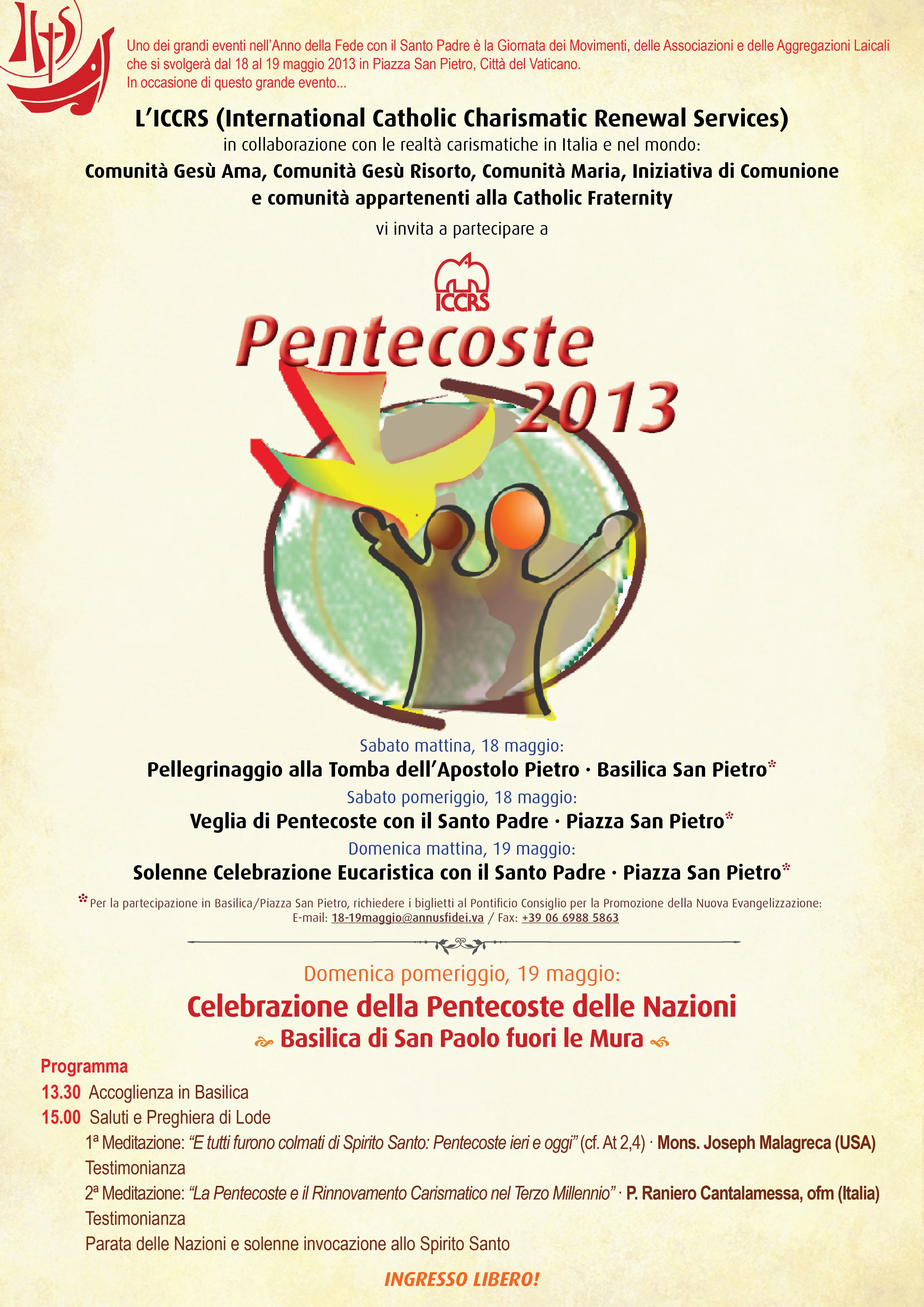 Poster for Pentecost 2013