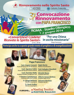 XXXVII Convocation of Renewal with Pope Francis · Rome, Italy